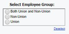 Select employee group