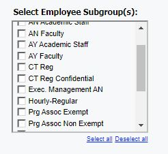 Select employee subgroup