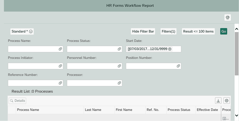 HR Forms Workflow Report Revised