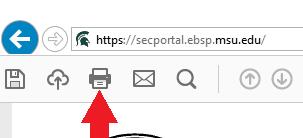 Print icon on Adobe Reader toolbar