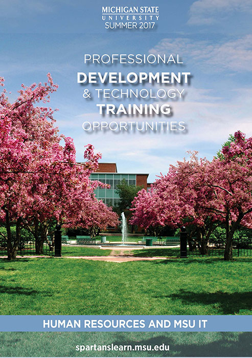 SpartansLearn Spring 2017 Catalog Cover Photo