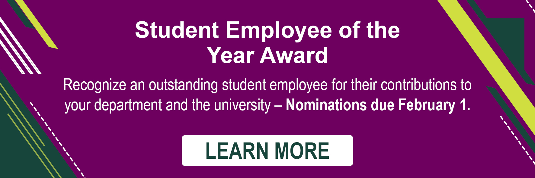 Student of the Year Award Nominations